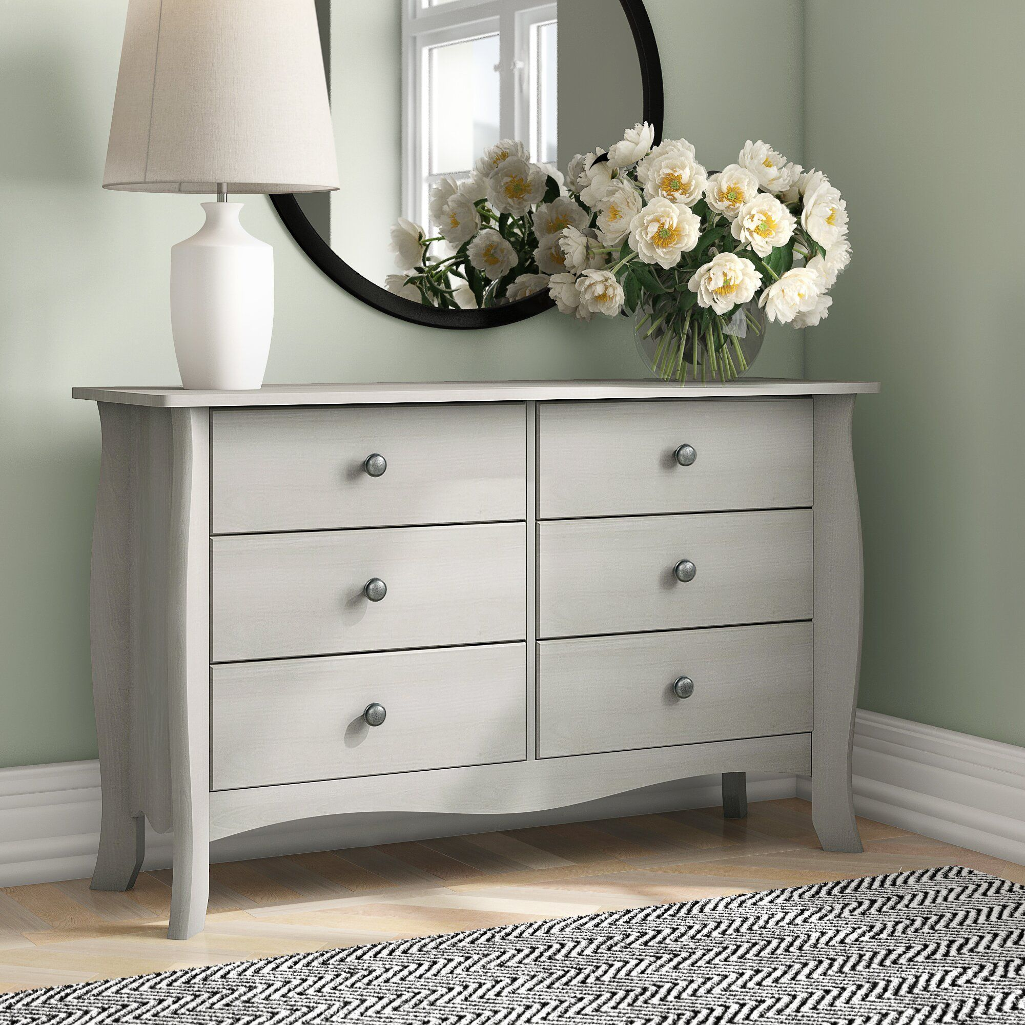 Brambly Cottage Cerny 6 Drawer Chest Reviews Wayfair Co Uk 6 Drawer Chest Chest Of Drawers Dresser As Nightstand [ 2000 x 2000 Pixel ]