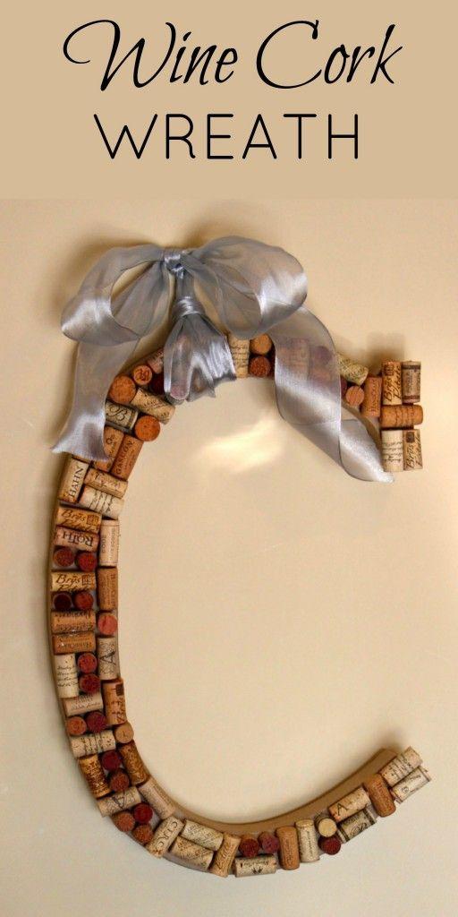 DIY Wine Cork Wreath - Princess Pinky Girl