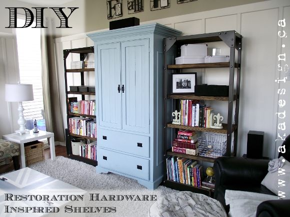 diy restoration hardware inspired shelves