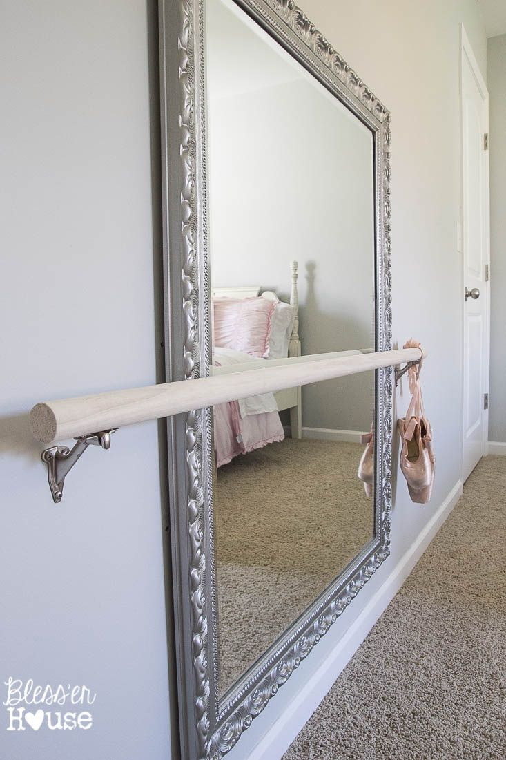 DIY Ballet Barre and How to Hang a Heavy Mirror | Pinterest ...