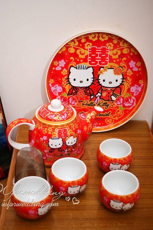 TS2030 Wedding Tea Set Hello Kitty