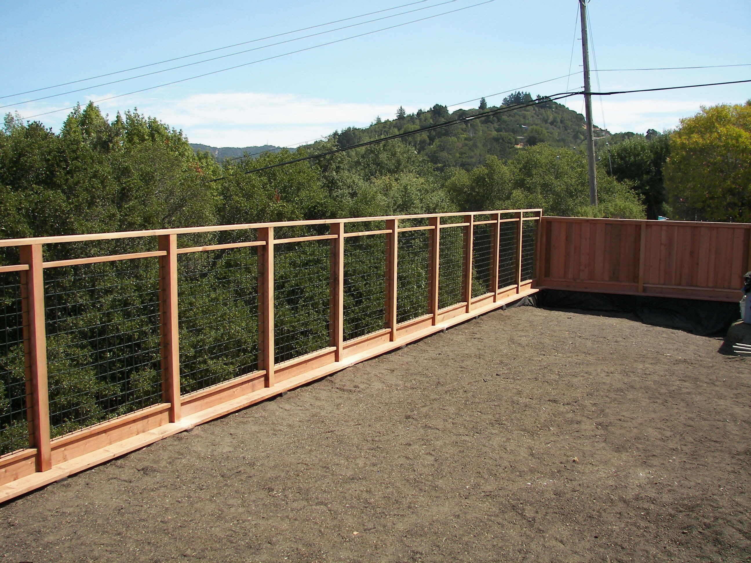 hog wire fence - Google Search | replace back fence to open up green ...