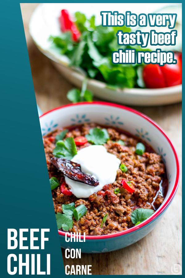 Beef Chili Recipe Chili Con Carne Beef Chili Recipe Recipes Beef Chili
