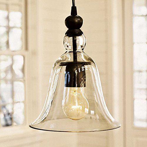 Permo 1-light Mini Clear Glass Ceiling Bell Pendant Vintage Hanging Light Fixture with Nostalgic Edison Filament Bulb Permo http://www.amazon.com/dp/B00YA7F6DK/ref=cm_sw_r_pi_dp_adxDwb0E21TNJ