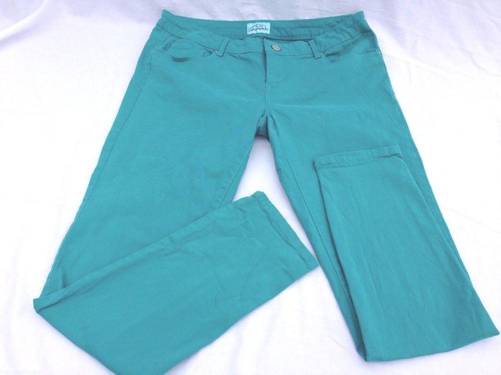 SOLD  Aeropostale Lola Leggings Jeans Teal Blue Women's size 13/14 Excellent #Aropostale #Leggings