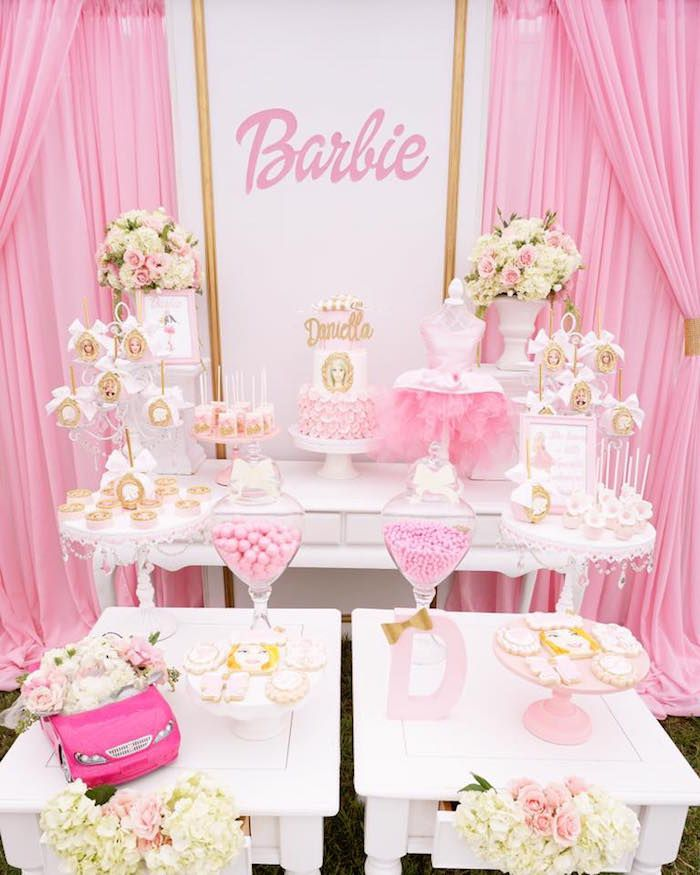 Pink Glam Barbie Birthday Party Barbie Party Decorations
