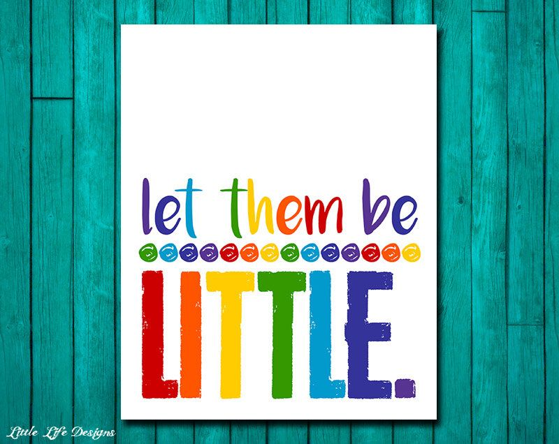 Playroom Wall Decor let them be little. playroom rules sign. childrens wall art. kids