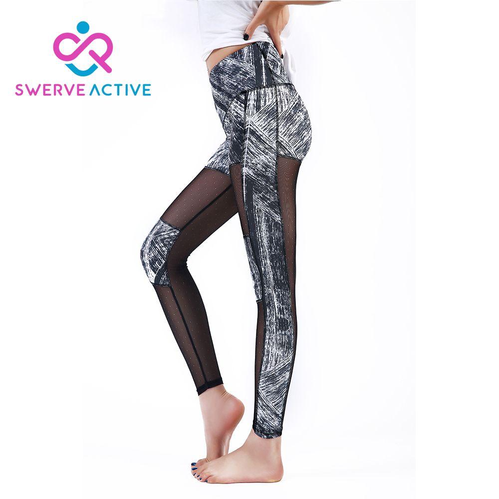 Womens Gym Yoga Celana Melihat Melalui Panel Gaya Sport Legging Celana Kebugaran Menjalankan Latihan Olahraga Elastisitas Jeggings Sports Leggings Sport Pants Yoga Pants