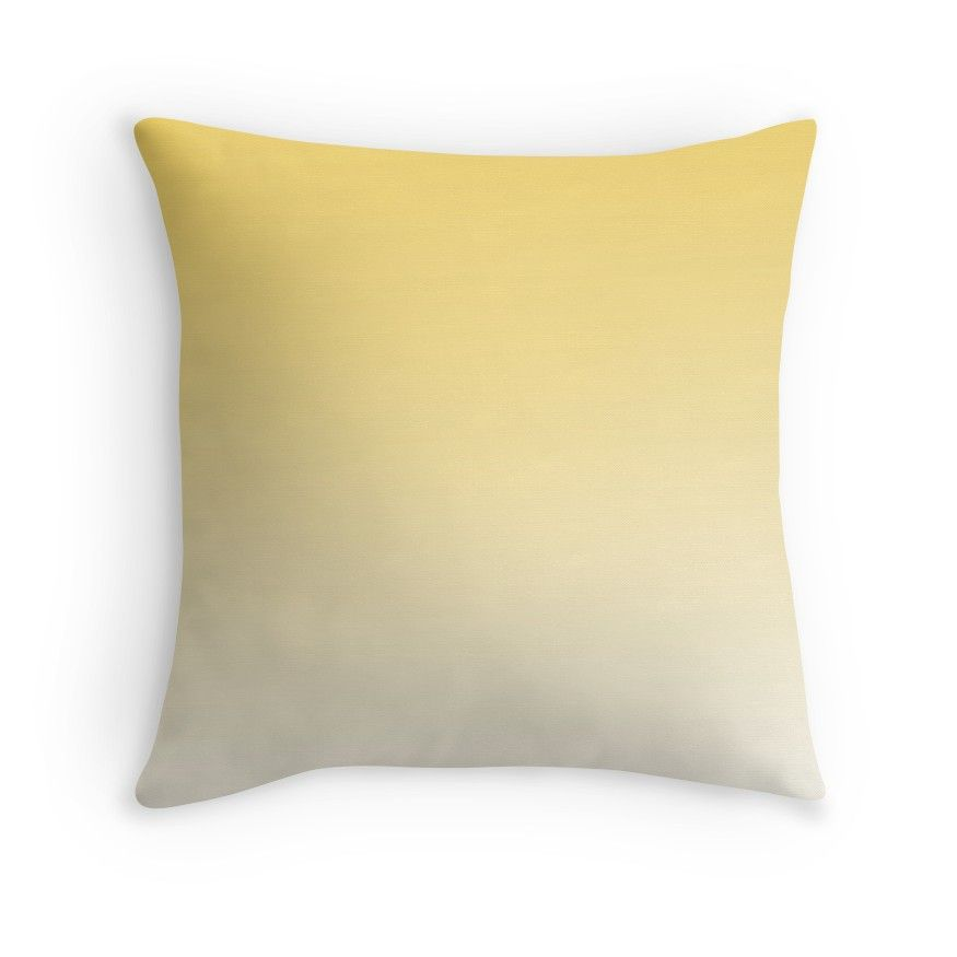 Pin By Siera Strauch On Apartment In 2020 Yellow Ombre Yellow Home Decor Ombre Pillow