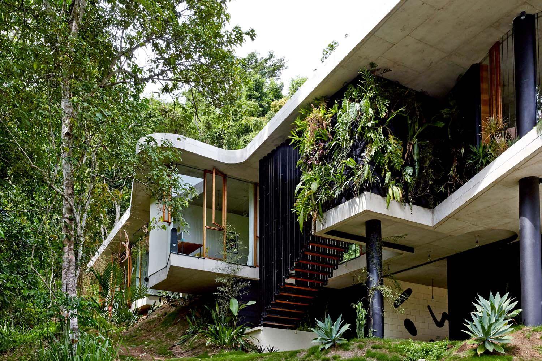Amazing concrete pad immersed in Australian rainforest setting