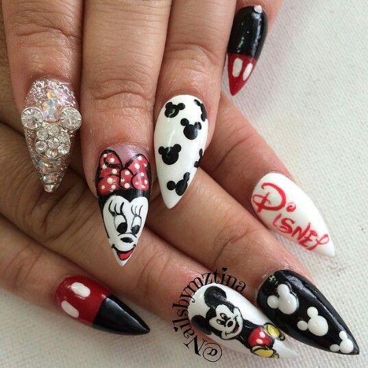 Mickey Mouse Nail Design - Mickey Mouse Nail Design Nailed It Pinterest Mickey Mouse Nail