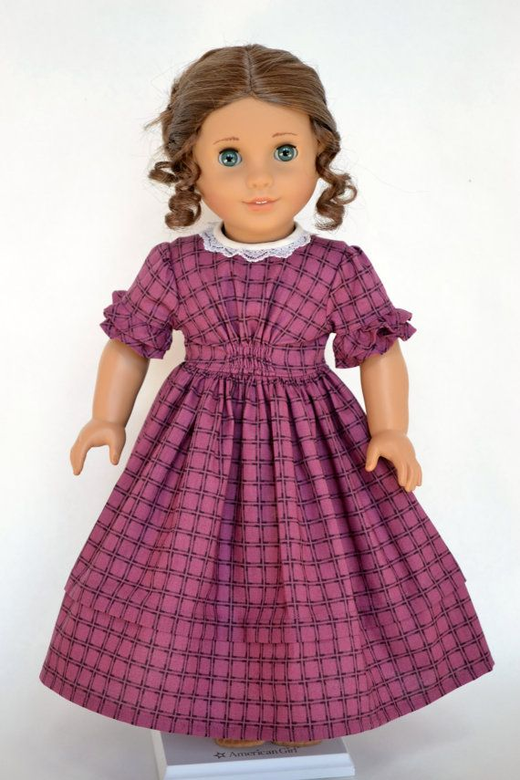 American Girl 18 Inch Historical Doll Dress Civil War Victorian Marie-Grace Cecile - Plum #historicaldollclothes
