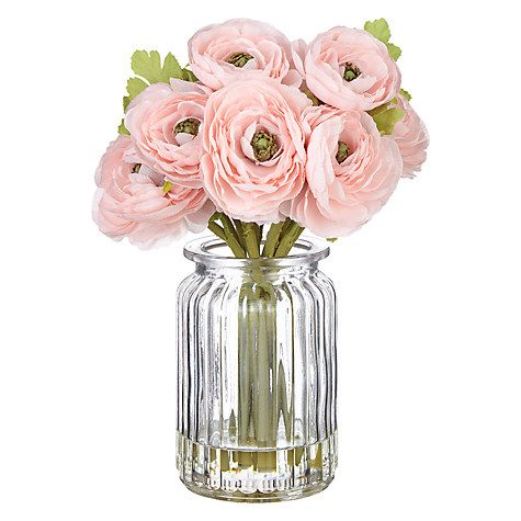 Buy john lewis fusion pink ranunculus in glass pot online at buy john lewis artificial pink ranunculus in glass pot from our artificial flowers plants range at john lewis mightylinksfo