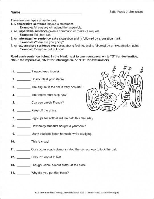 Printable English Worksheets 6th Grade : Th grade reading worksheets printable