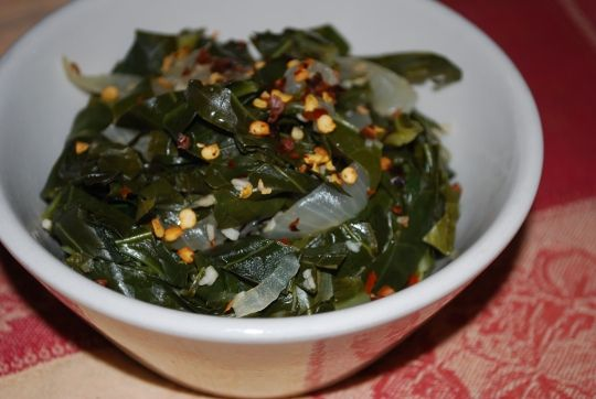 Quick & Easy Collards (Yummy too!)