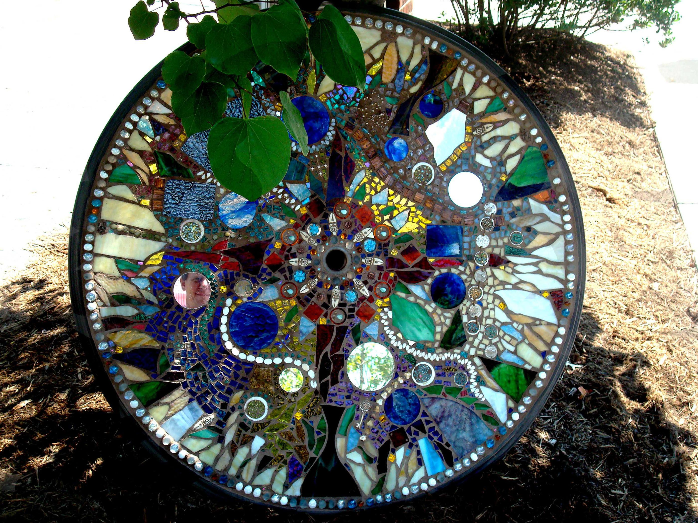 How to Create a Unique Table Top Mosaic of Plate and ...