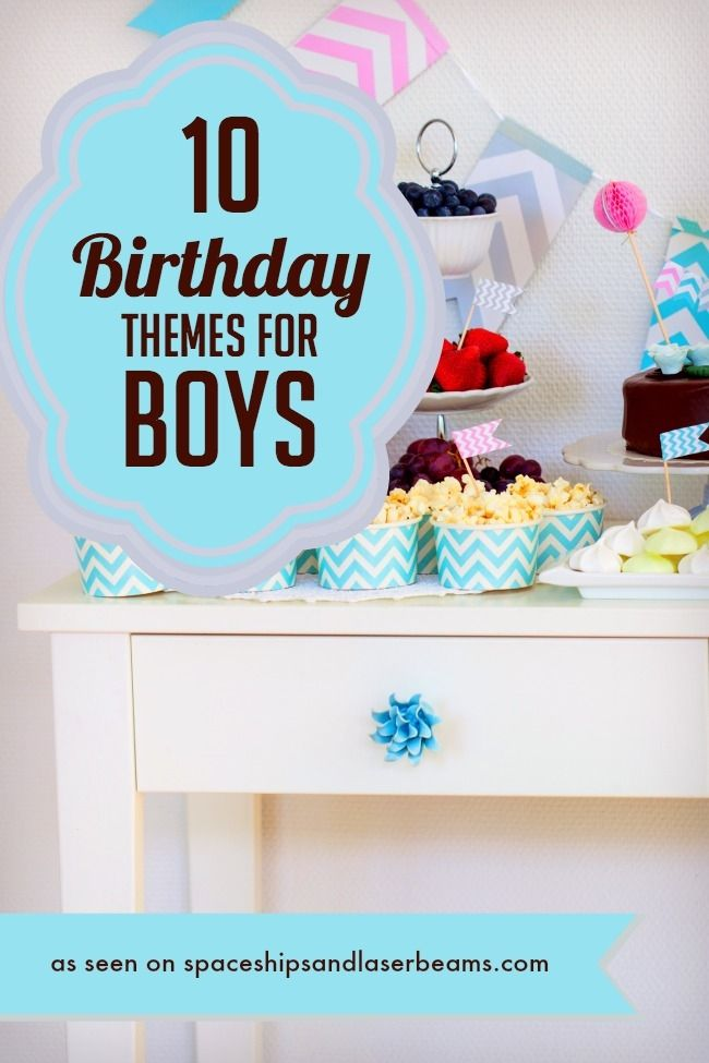 10 Birthday Themes For Boys Spaceships And Laser Beams Birthday Themes For Boys Boy Birthday Parties Birthday Theme
