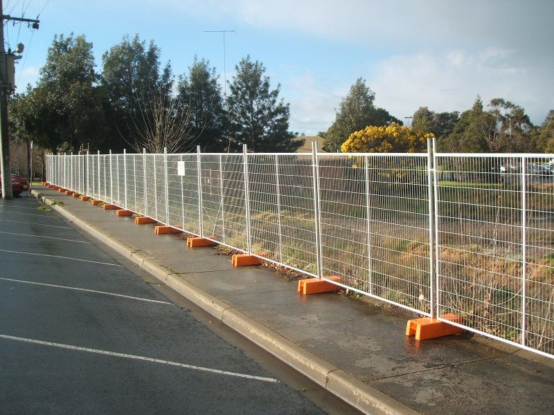 Industrial temporary fencing, construction supplies FOOTBALL