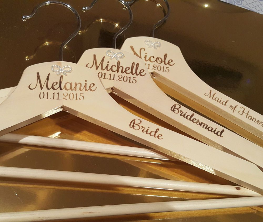 5 pcs personalised engraved bridal wooden coat hangers bridesmaid 5 pcs personalised engraved bridal wooden coat hangers bridesmaid wedding gift junglespirit