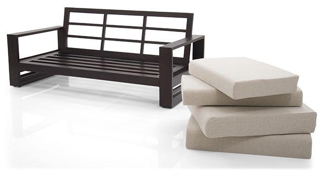 parsons wooden sofa 2 1 1 set