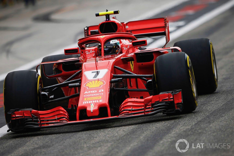 Kimi Raikkonen In Fp1 Ferrari Race Cars Racing