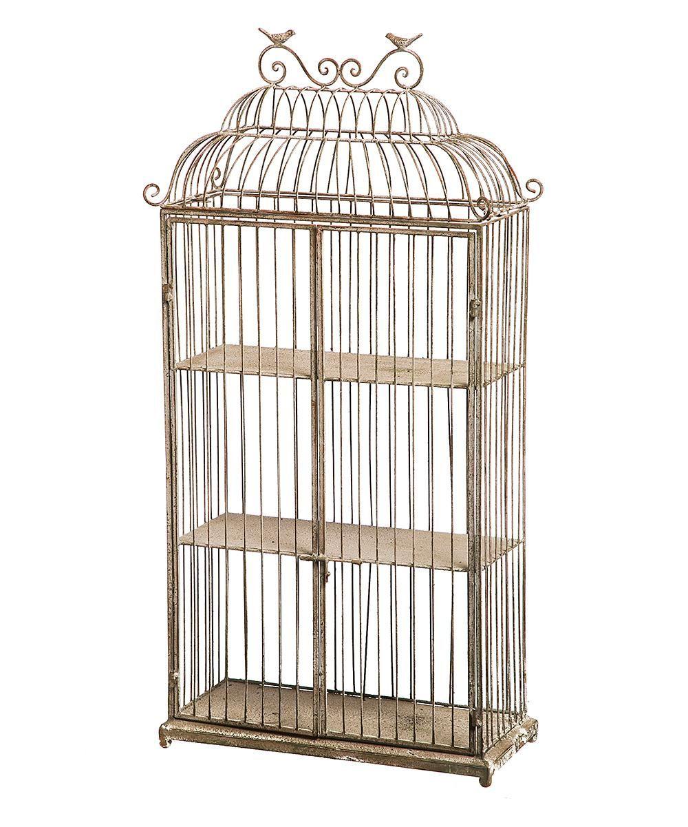 Metal Birdcage Three-Tiered Planter