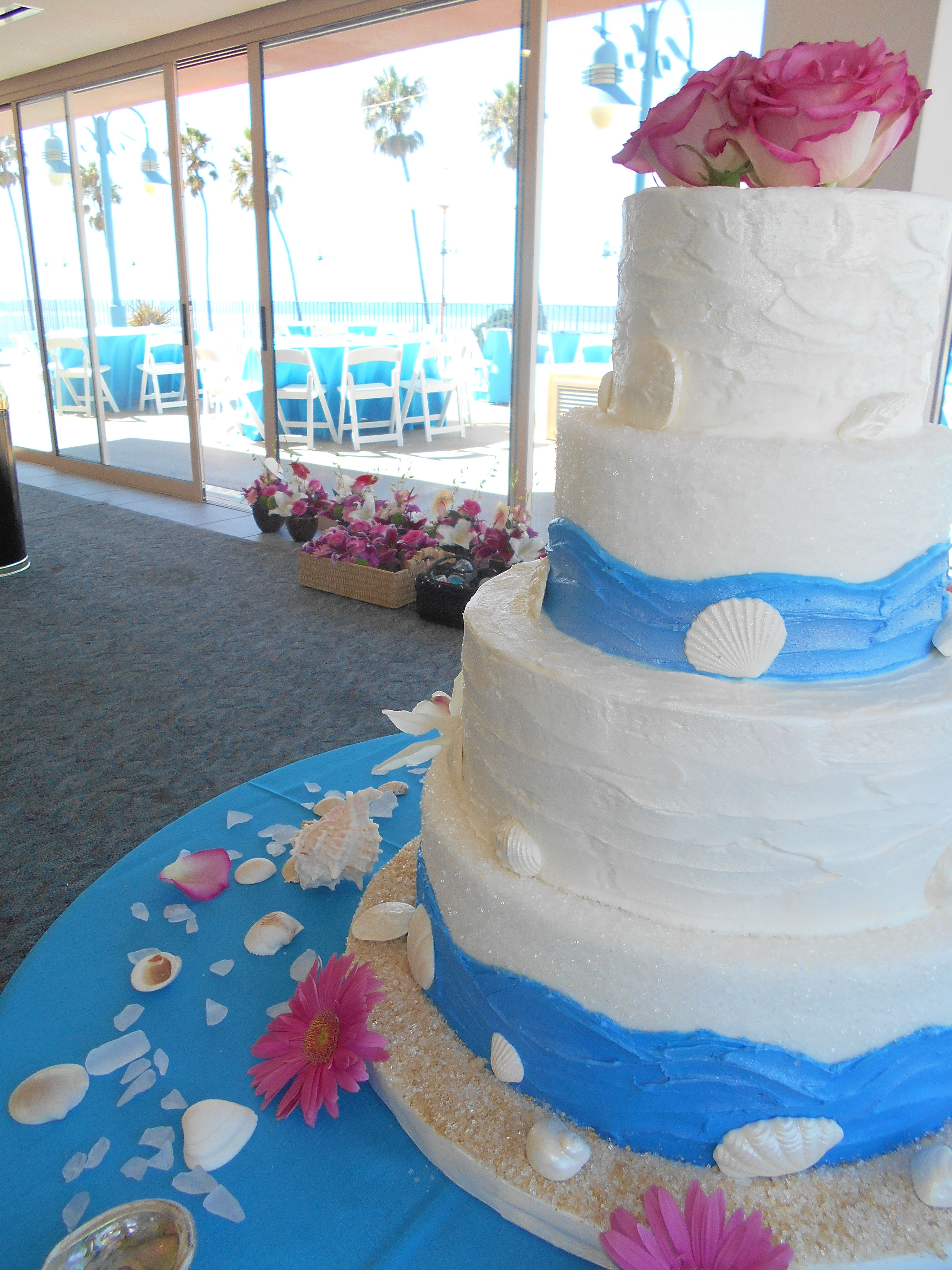 Sea inspired cake | La Jolla Cove Suites Wedding | | Lets put ...