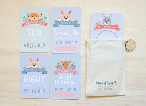 Twin Milestone & Moment Woodland Collection