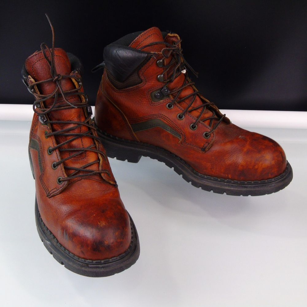 Red wing 2226 6inch men safety boots steel toe brown