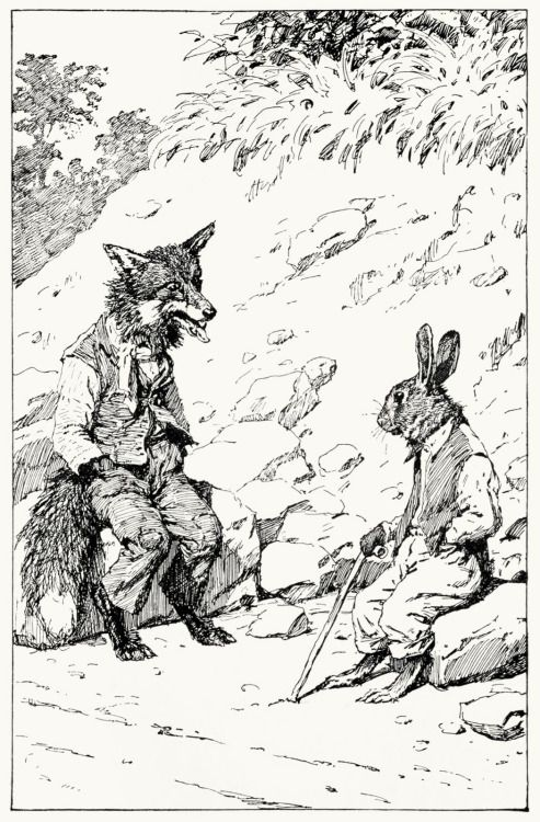 Brer Rabbit Look Like He Feel Sorry Kaze Brer Fox Sech A Numbskull A B Frost From Uncle Remus And His Friends By Joel Uncle Remus Fox Drawing Illustration