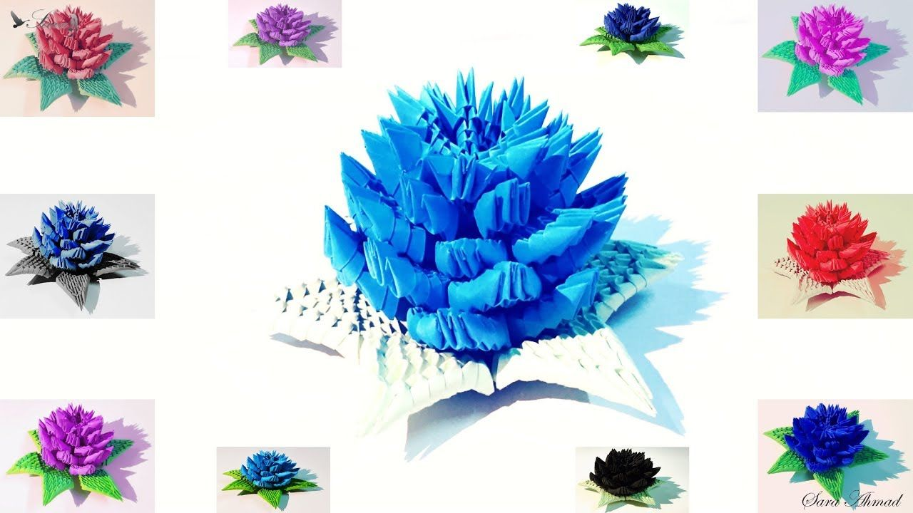 How to make 3d origami flower 7 origamiflower howtomake diy how to make 3d origami flower 7 origamiflower howtomake jeuxipadfo Gallery