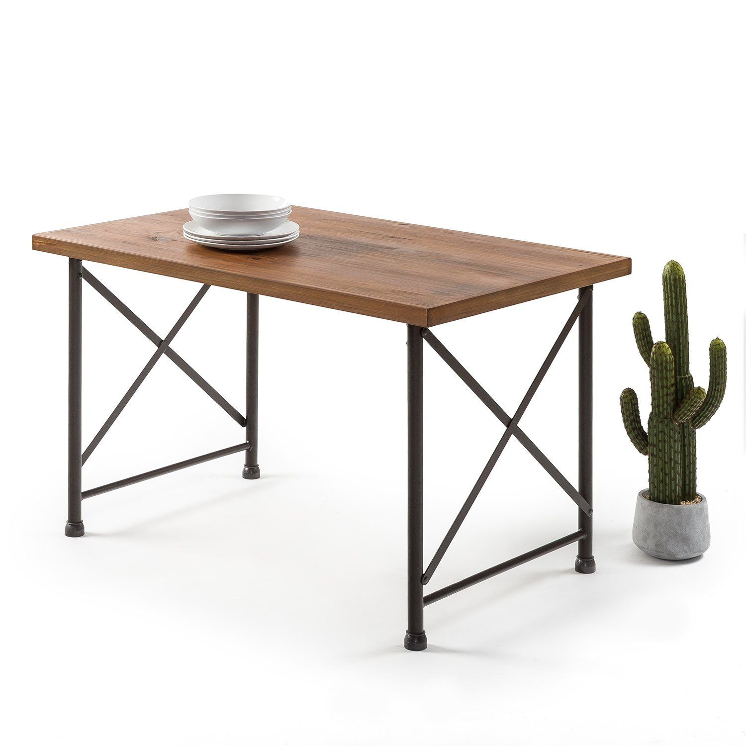Amazon Com Zinus Industrial Style Dining Table Kitchen Dining