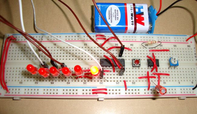 digital dice circuit using 555 timer ic 555 timer circuits in 2018 rh pinterest com