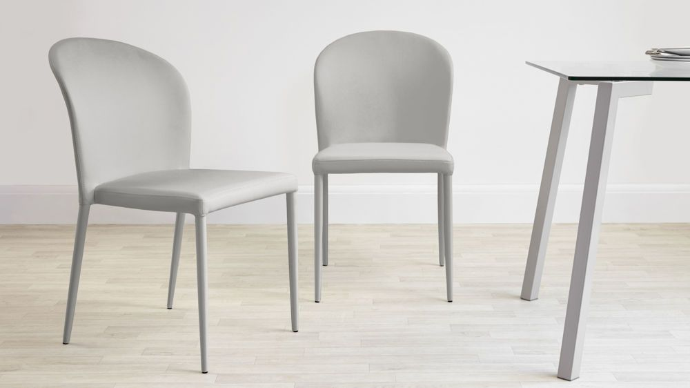 Santo Grey Faux Leather Dining Chairs Faux Leather Dining Chairs
