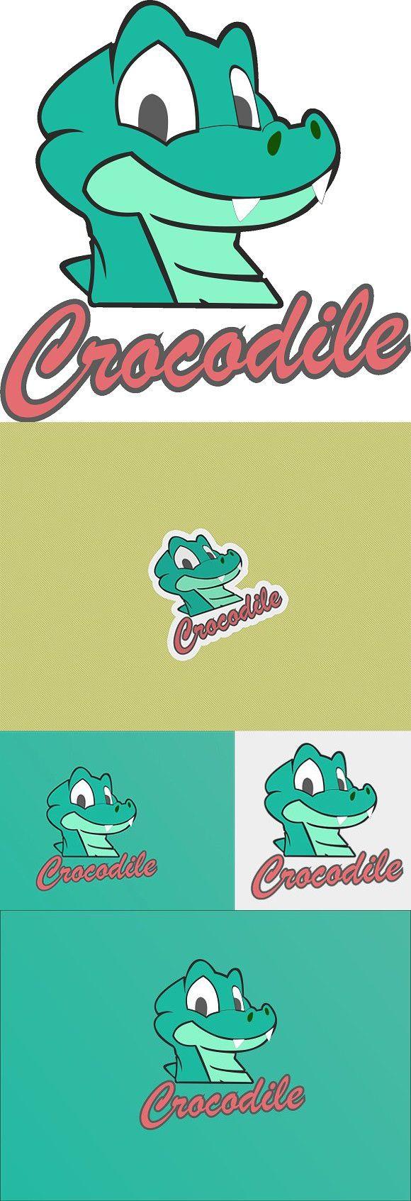Crocodile Logo Template Desain, Grafis, Desain grafis
