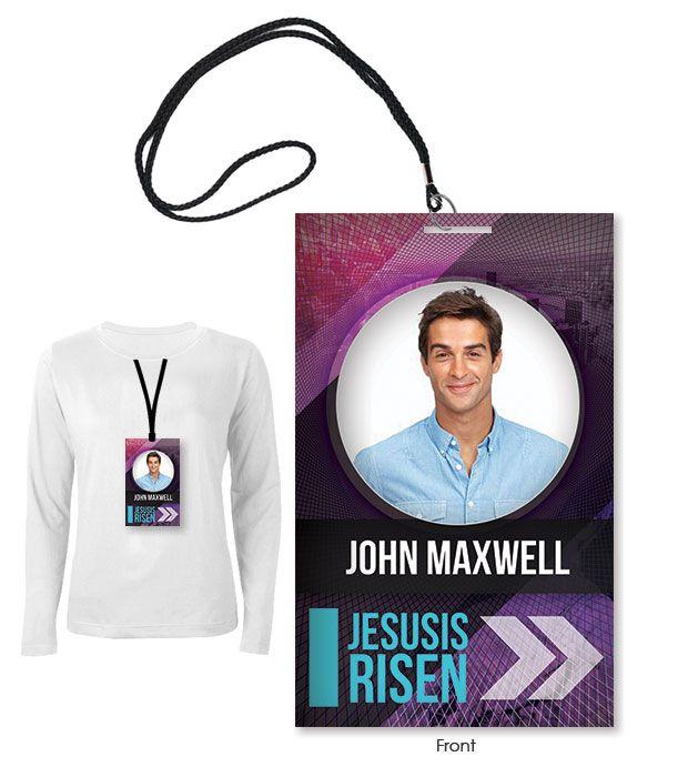 Professional employee identity badge with man. Modern Staff Badge Digital316 Net Christian Graphic Design Badge Badge Design
