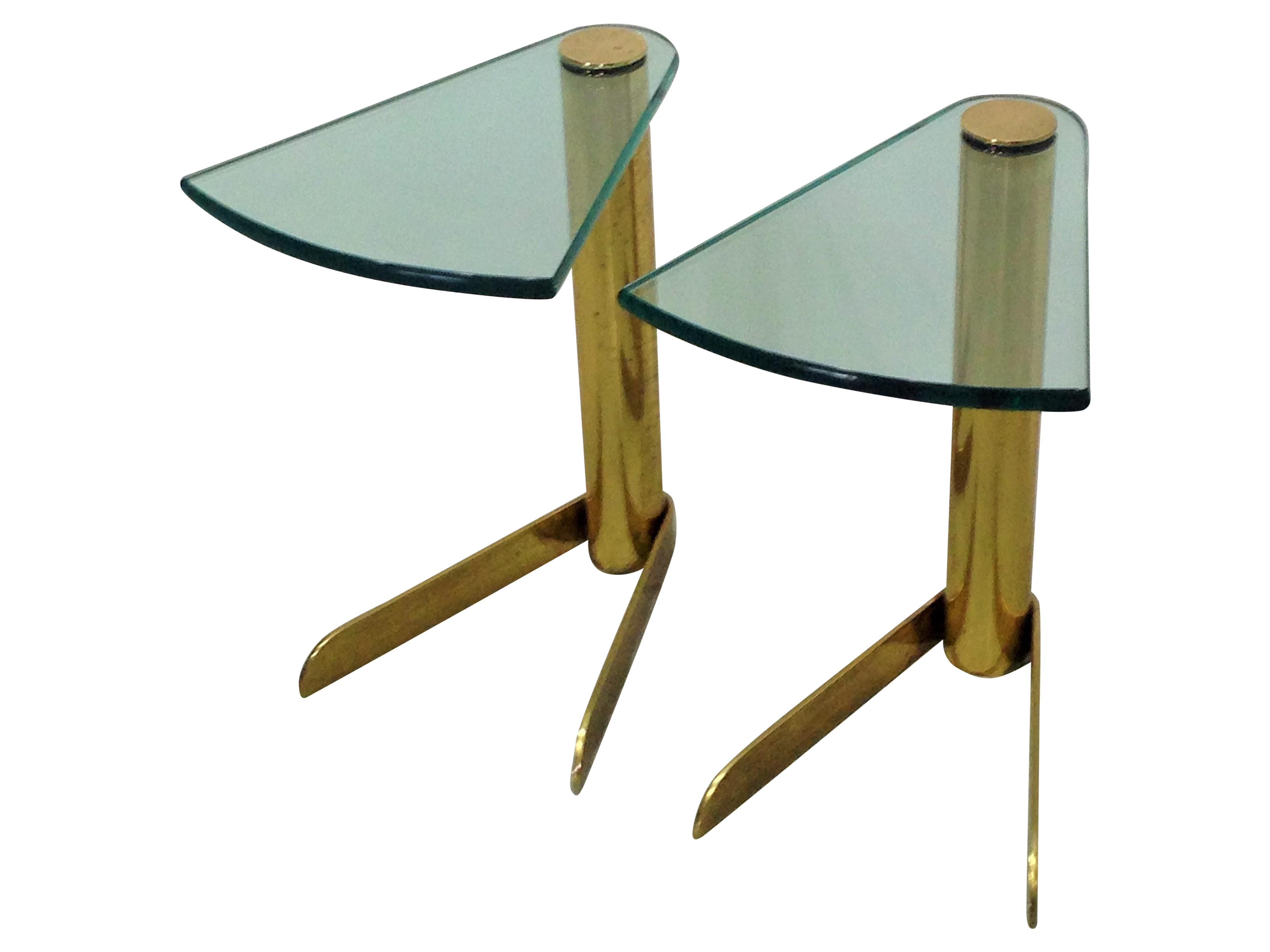 Mcm Brass Glass Side Tables By Pace A Pair Glass Side Tables Side Table Table [ 2448 x 3264 Pixel ]