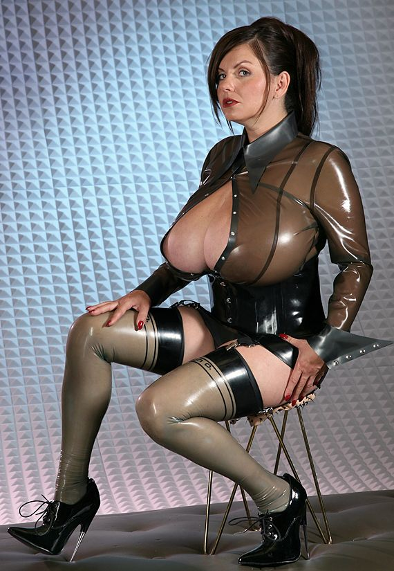 Raincoat fetish latex big boobs