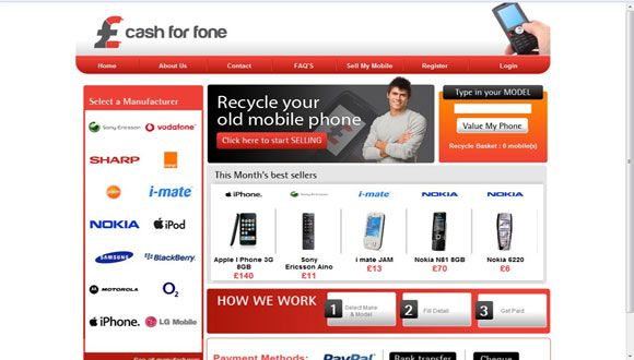 Ecommerce Website for Old Mobile Phone. Online web portal to sell ...