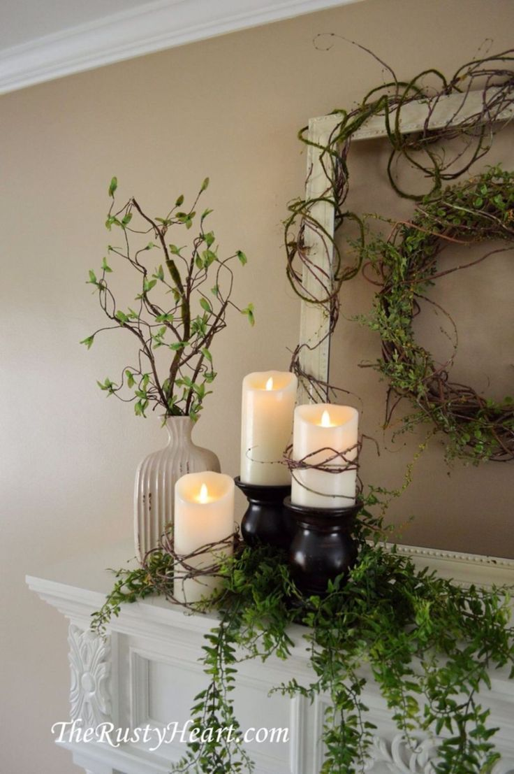 22 Fabulous Farmhouse Mantel Decorating Ideas images