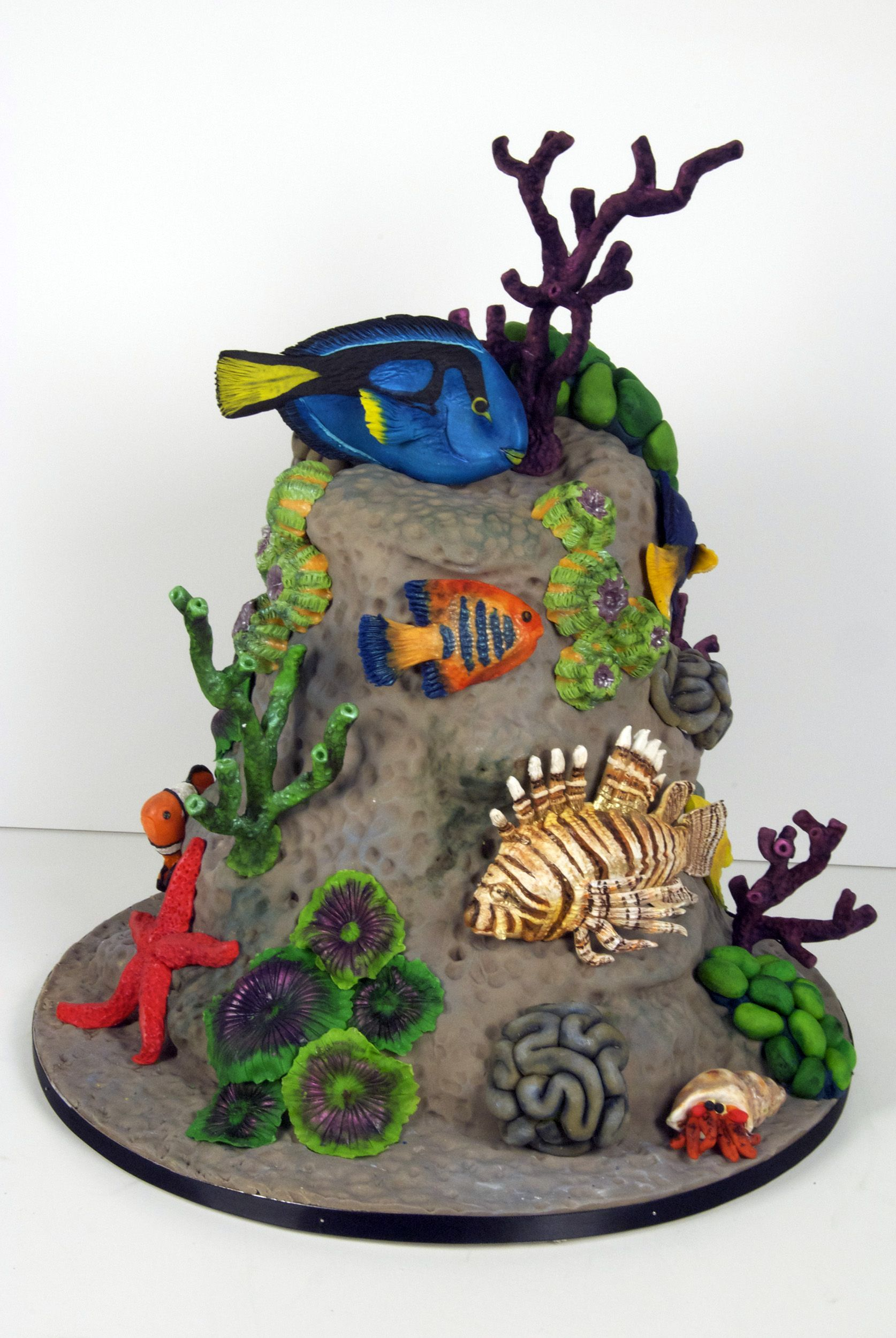 Edible Chocolate Parrot Fish Cake Decorations