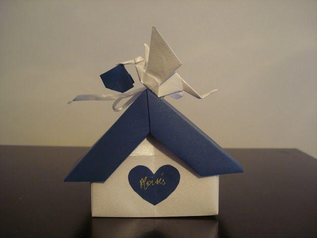Lina Origami: Lembrancinha de Nascimento do meu filhote - Só falta ele nascer pra colocar a data ...
