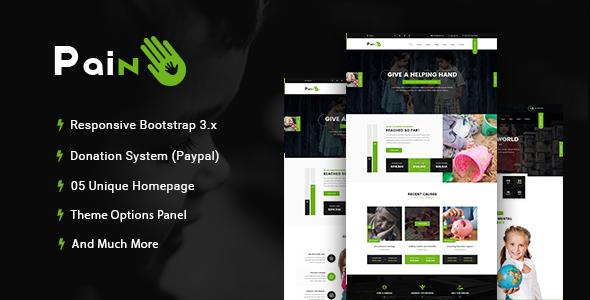 Pain - Charity & Fundraise Non-profit WordPress Theme | Wordpress ...