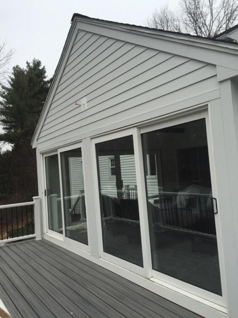 These Homeowners Wanted A Trex Decking And James Har Siding 4 Season Room Pbs Installed