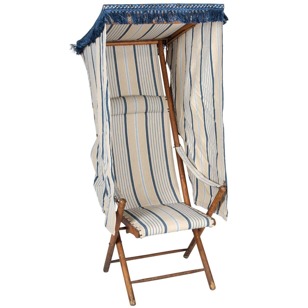 French Beach Chair with Canopy From a unique collection