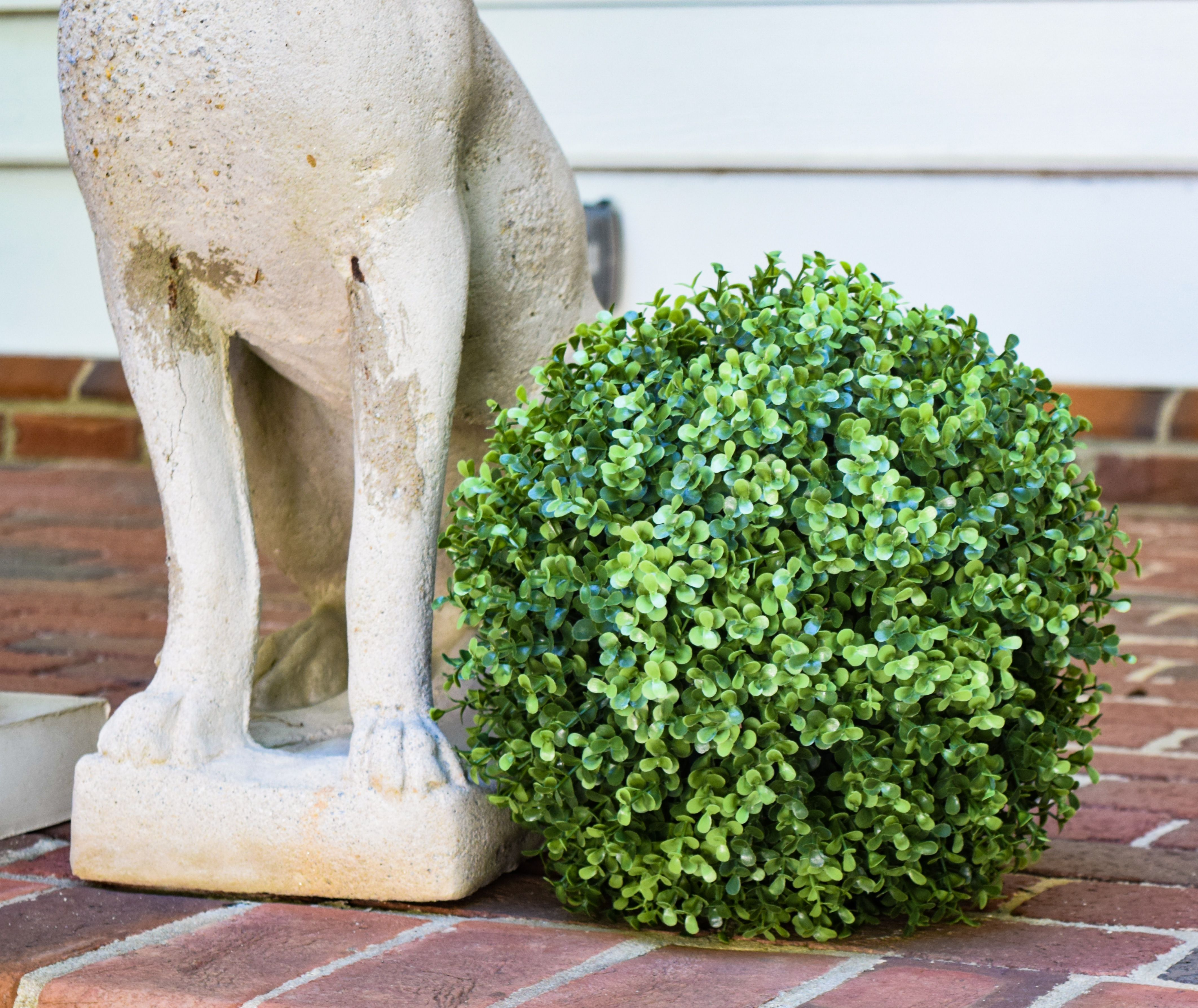 "Decorative Boxwood Balls Faux Boxwood Ball  11"" Uv Stable And Weather Resistantjust Add"