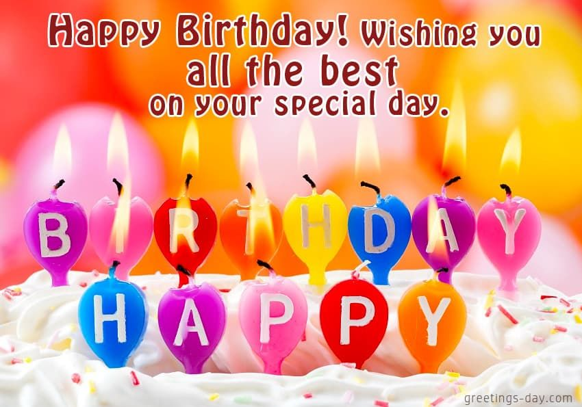 Happy Birthday Wish You All the Best Quotes - Birthday Wishes ...