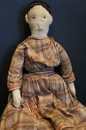 Very fine hand sewn 1880 doll great clothes amazin