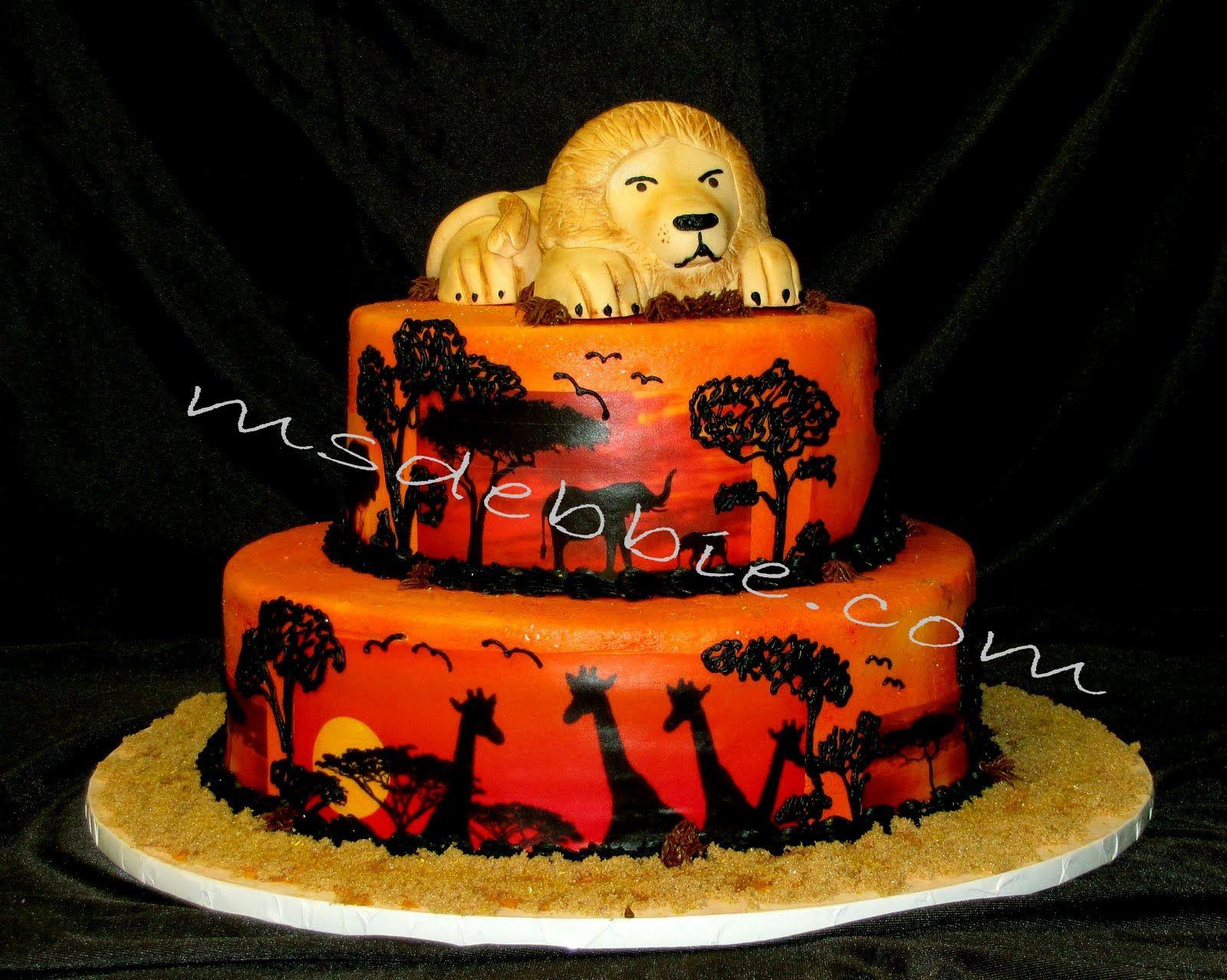 Lion King First Birthday Theme  Ms Debbies SugarArt African - Lion birthday cake design