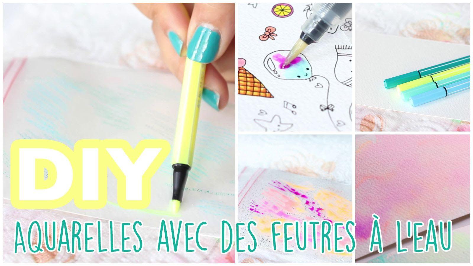 Diy Tuto Aquarelles Avec Des Feutres A L Eau Tuto Aquarelle